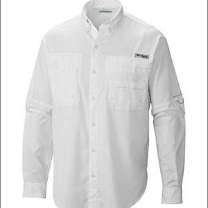 Columbia Long-Sleeve White PFG
